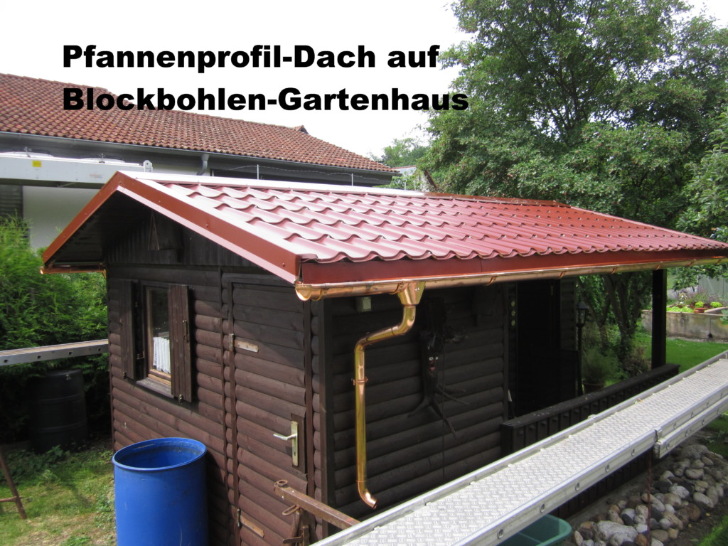 mehrl-spenglerei.de | pannenprofil-dach auf gartenhaus